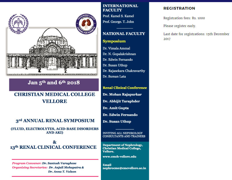 3rd Annual Renal Symposium & 13th Renal Clinical Conference
